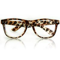 Hot-selling new 2014 leopard print rivet plain mirror  reading glasses large frame eyeglasses free shipping