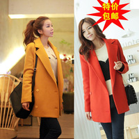 Wool wool coat outerwear female medium-long cashmere overcoat plus size woolen clothing suit