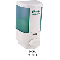 ABS Plastic Commercial Manual Soap Dispenser with Refillable Bottle