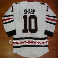 Free shipping ice hockey #10 PATRICK SHARP 10  white color third  cheap Jersey jerseys hot sale heiying