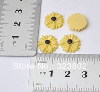 0.47 Inches Flatback Resin Acrylic Flower Cabochons Sunflower DIY Cell Phone Case Jewelry Supply -40PCS