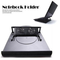 Computer radiator adjustable laptop cooling rack double fan(China (Mainland))