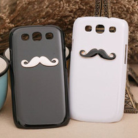 fashion girl the metal moustache hard case for Samsung Galaxy s3 siii i9300 protective cover [JCZL DIY Shop]