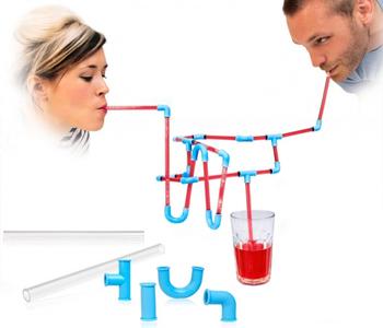 Free Shipping Transparent tube diy straws lounged straw diy straws edible silica gel