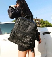 Free/drop shipping   2013 vintage punk rivet general backpack ,women's bag,wallet,cluth bag,handbag