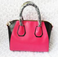 NEW!Free shipping 2013 women's handbag patchwork block color portable messenger bag small cross-body bags smiley bag