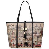 free shipping, 2013 spring and summer aza women's handbag fashion cartoon print shopping bag shoulder bag handbag bag
