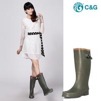 Rain boots high fashion rainboots Women water shoes trend brief