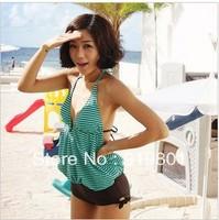 Free shipping Triangle one piece none belt pad swimwear hot spring female swimwear