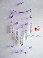 20 tube acrylic crystal wind chimes silver tube metal wind chimes birthday gift door trim hangings