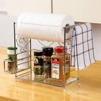 Kitchen supplies shelf towel rack sooktops flavorfully storage rack iron corner bracket rack