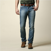 men's clothing spring and summer commercial straight jeans 100%cotton