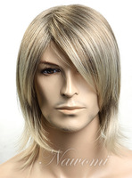 Non-mainstream short hair oblique bangs boys handsome wig fashion w3490