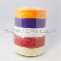 Sheer Organza Ribbon,  Wide Ribbon for Wedding Decorative,  Mixed Color,  25mm,  250Yards