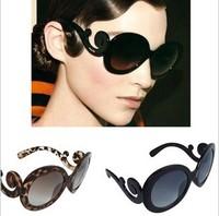 Lady gaga fashion glasses normic circle sunglasses female free shipping