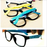 New fashion 2014 men large  Frame glasses black five-pointed multi  colors sunglasses free shipping