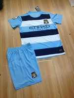 New 2013-2014 man city soccer jersey balotelli #45 man city home blue soccer uniform  free patches  free shipping