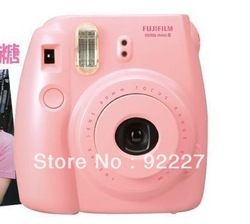 Fuji Fujifilm Instax Mini 8 Instant Film Photo Polaroid Camera with Strap - PINK(China (Mainland))