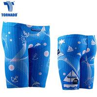 Long design 5 sunscreen professional swimming pants boy