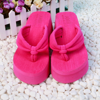 Spring and summer belt towel cloth sandals wedges female slippers flip flops platform beach women's shoes
