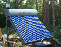 Free shipping/200L Non-pressurized solar water heater/With Feeder tank(input water AUTO)