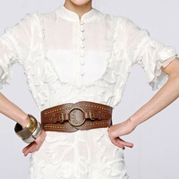 New Arrival Classic Folk style waistband for lady Round head buckle PU leather belt for women  free shipping wholesale
