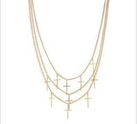 DN6 Fashion short design necklaces for women gold cross necklace chain TDD-4.99
