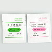 New 2pcs PH Buffer Powder for PH Test Meter Measure Calibration Solution 4.00 6.86pH T0046 P