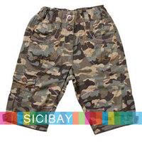 Free Shipping Boys Summer Overall Boy Camouflage Shorts Kids Half Shorts, Beach Wear,5pcs/lot K0473