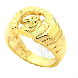 Free Shipping New Arrival Mens Exaggerated Style 18K Yellow Gold Plated Ring Horse Patterned US Size 6/7/8/9/10 GR08(China (Mainland))