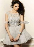 Custom Sexy Cystal Shiny Organza Short Graduation dresses Cocktail Dress 2013 With Free Shipping