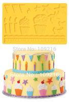 Free shipping! 3D Ice Cream etc. (CT110))  Silicone Handmade Fondant  Mold DIY Mold Cake Decorating