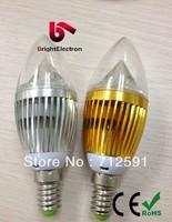 Free FedEx Shipping 5W E14 E27 LD Candle bulb Light White/Warm White LED Bulb globe Candle Lamp