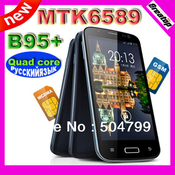 New Galaxy S4 phone STAR B95+ Quad Core Mobile phone 5.0 inch IPS 1.2Ghz CPU 1GB RAM 4GB MTK6589 Dual Sim SG post free shipping