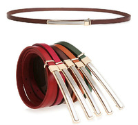 Retail High Quality Genuine Leather Fashion 2013 Women Leather Belt Thin Style Women&#39;s Belts Pin Buckle Strap, Free Shipping