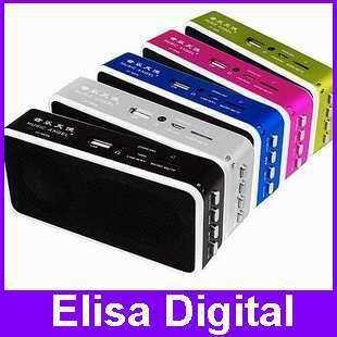 Free shipping 100% original music angel JH-MD09 mini speaker support tf /micro /FM / U-disk +8GB TF card+ card reader,RY9114