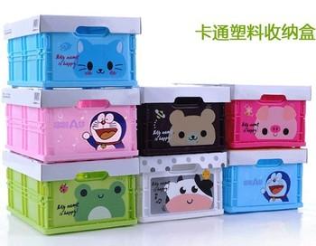 Cartoon animal storage box folding storage box finishing box Large storage box 450