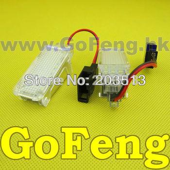 2pcs/lot white Error Free Led courtesy light For A2,A3/S3,A4/S4/RS4,A5/S5,A6/S6/RS6,A8/S8,Q5,Q7,R8 VW:Phaeton,Sharan,Passat cc