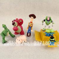 Perfect workmanship free shipping 7 toy story buzz lightyear woody eye boy  7pcs/lot