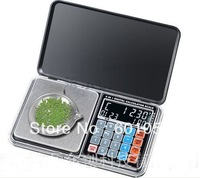 20PCS/LOT 500g/0.1g Newest Digital Pocket Scale with digital clock, digital thermometer,calculator, weighing, counting, pricing