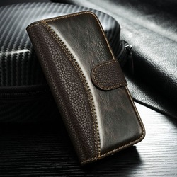 Luxury hybrid leather case for iPhone 4g 4s 5g Flip cover with card holder phone bags for iphone 5g with free touch pen as gift(China (Mainland))
