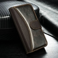 Luxury hybrid leather case for iPhone 4g 4s 5g Flip cover with card holder phone bags for iphone 5g with free touch pen as gift
