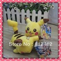 Free shipping Pokemon lying Pikachu 100pcs/lot plush toy pendant