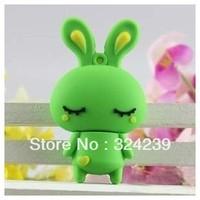 M-165 Wholesale Hot Cartoon Green  USB 2.0 Flash Memory Stick Drive
