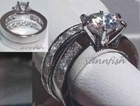 hot sell men women charming crystal ring rings lover ring band wedding /engagement ring