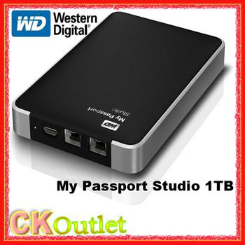 Western Digital WD My Passport Studio 1TB WDBK8A0010BBK for Mac & PC Portable External Hard Drive w/3 Year Warranty (Free Gift)