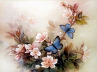 Quality diamond painting rhinestone painting blue butterfly diy home diamond mural popular diamond painting