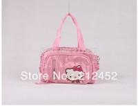 Hello Kitty Handbag Lovely Hello Kitty Bag Female's Messenger Bag Canvas Handbag Large Travel Bag In Cartoon Pattern