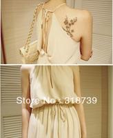 Free shipping, New arrival sexy V-neck chiffon spaghetti strap full dress strapless dress fashion dresses