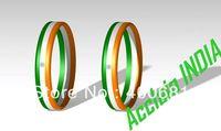Sample Order Free Shipping INDIA Flag Stripe Silicone Wristband/Bracelet